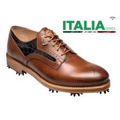 Obrázok ku produktu Pánske golfové topánky Callaway Classic S Brown ITALIA Series hnedé