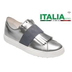 Obrázok ku produktu Dámske golfové topánky Callaway Kiltie Pewter ITALIA Series strieborné