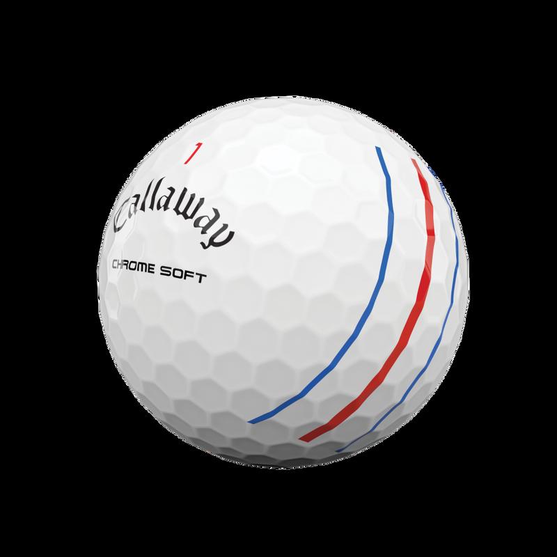 Obrázok ku produktu Golfové loptičky Callaway Chrome Soft TripleTrack White 20, 3-balenie