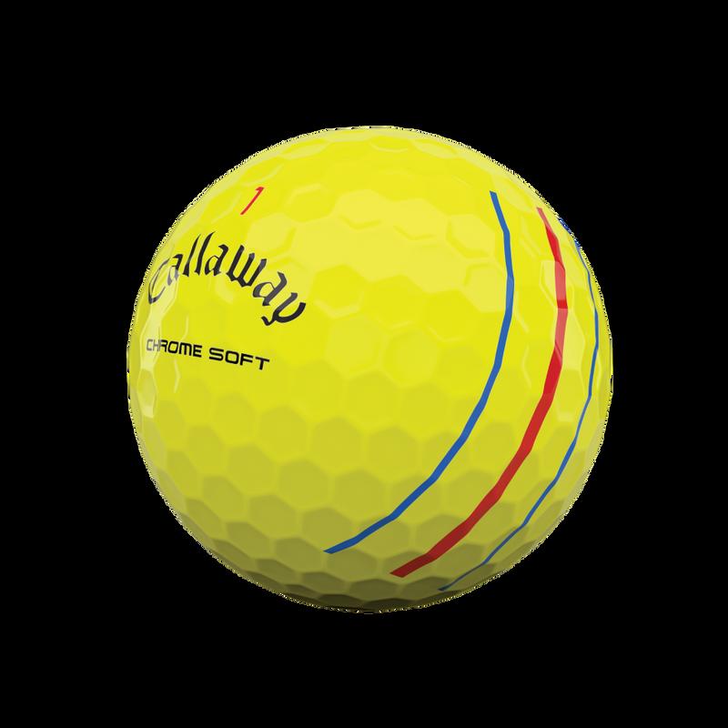 Obrázok ku produktu Golfové loptičky Callaway Chrome Soft TripleTrack Yellow 20, 3-balenie
