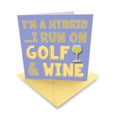 Obrázok ku produktu Karta Ball Marker Golf and Wine White