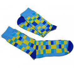Obrázok ku produktu Ponožky FunnySOX Pixelky modrožlté