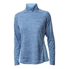 Obrázok ku produktu Tričko dámska BackTee Ladies Melange Zip Baselayer blue