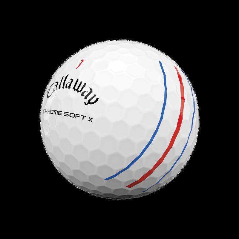 Obrázok ku produktu Golfové loptičky Callaway Chrome Soft X 20 Triple Track biele, 3-balenie
