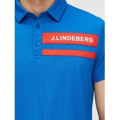Obrázok ku produktu Pánska polokošeľa J.Lindeberg Paul Regular Fit Lux Pique Golf modrá
