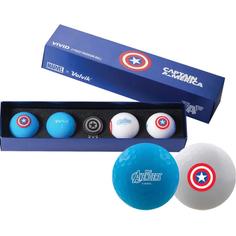 Obrázok ku produktu Golfové loptičky  Volvik Captain Amerika Long, 4-balenie