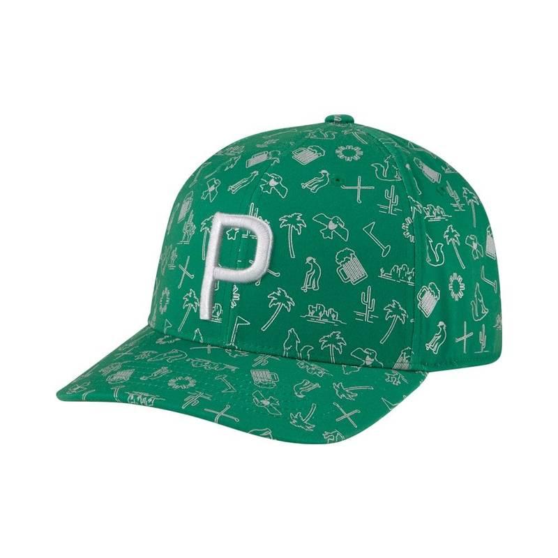 Obrázok ku produktu Šiltovka Puma P110 Snapback zelená, recyklovaný materiál, inšpirovaný turnajom Phoenix Open